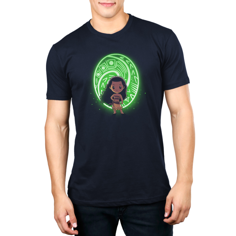 The Heart of Te Fiti mens tshirt model officially licensed black tshirt featuring Moana