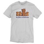 One of These is Not Like the Otters t-shirt TeeTurtle silver t-shirt featuring a mama otter holding hands with her three little otters, two on her left, and one smiling big on her right