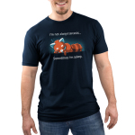 I'm Not Always Sarcastic Men's t-shirt model TeeTurtle navy t-shirt featuring a red panda asleep on its stomach with one arm under its head with the other draping down