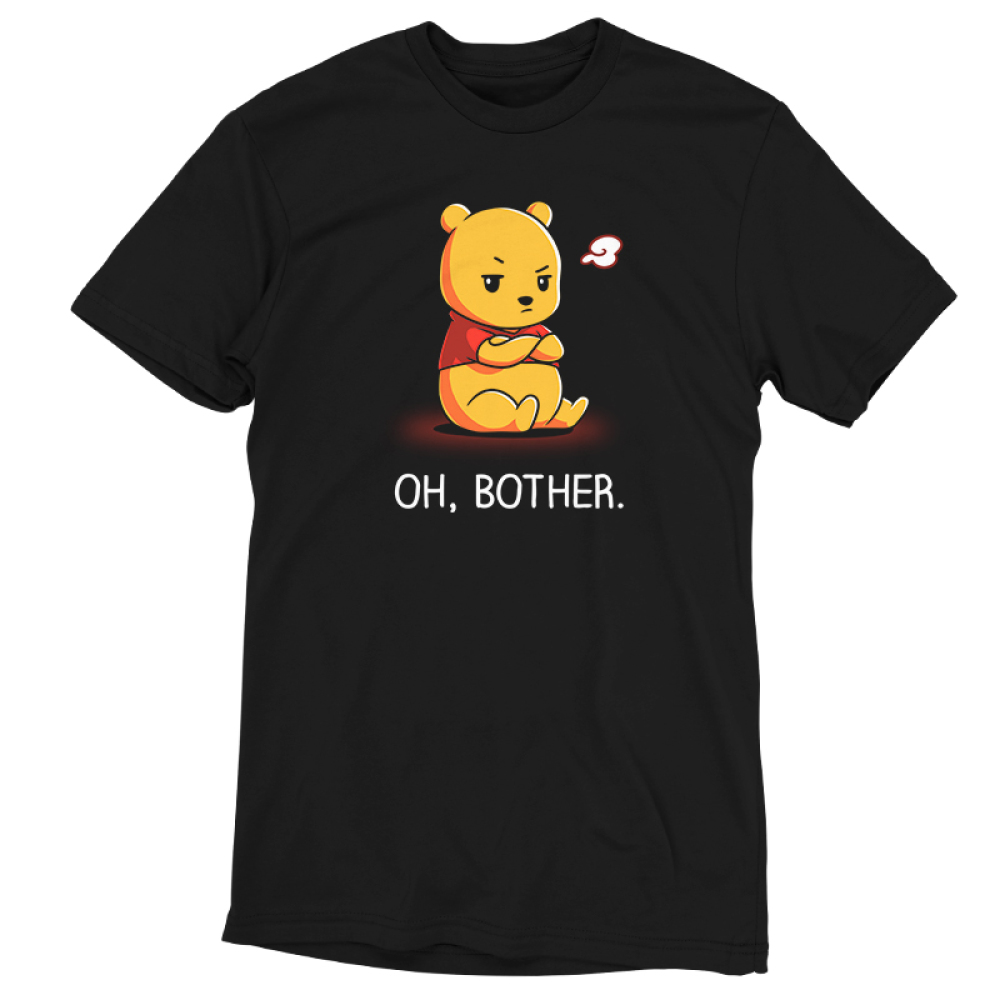 Oh, Bother tshirt officially licensed black tshirt featuring Winnie the Pooh upset