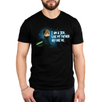I am A Jedi mens tshirt model officially licensed black tshirt featuring Luke with his green lightsaber
