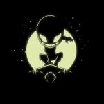 Spider-Man Symbiote (Glow) tshirt officially licensed black glow tshirt featuring spiderman and venom