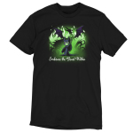 Embrace The Beast Within (Maleficent) tshirt officially licensed black tshirt featuring Maleficent conjuring her dragon with green flames around her