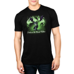 Embrace The Beast Within (Maleficent)  mens tshirt model officially licensed black tshirt featuring Maleficent conjuring her dragon with green flames around her