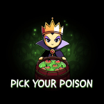 Pick your poison tshirt officially licensed black tshirt featuring the evil queen from snow white with a bucket of poison apples