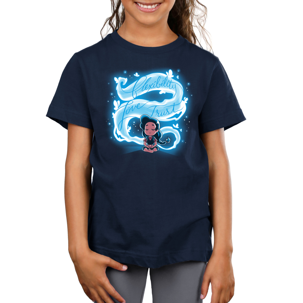 Here Comes a Thought Kid's t-shirt model Steven Universe TeeTurtle