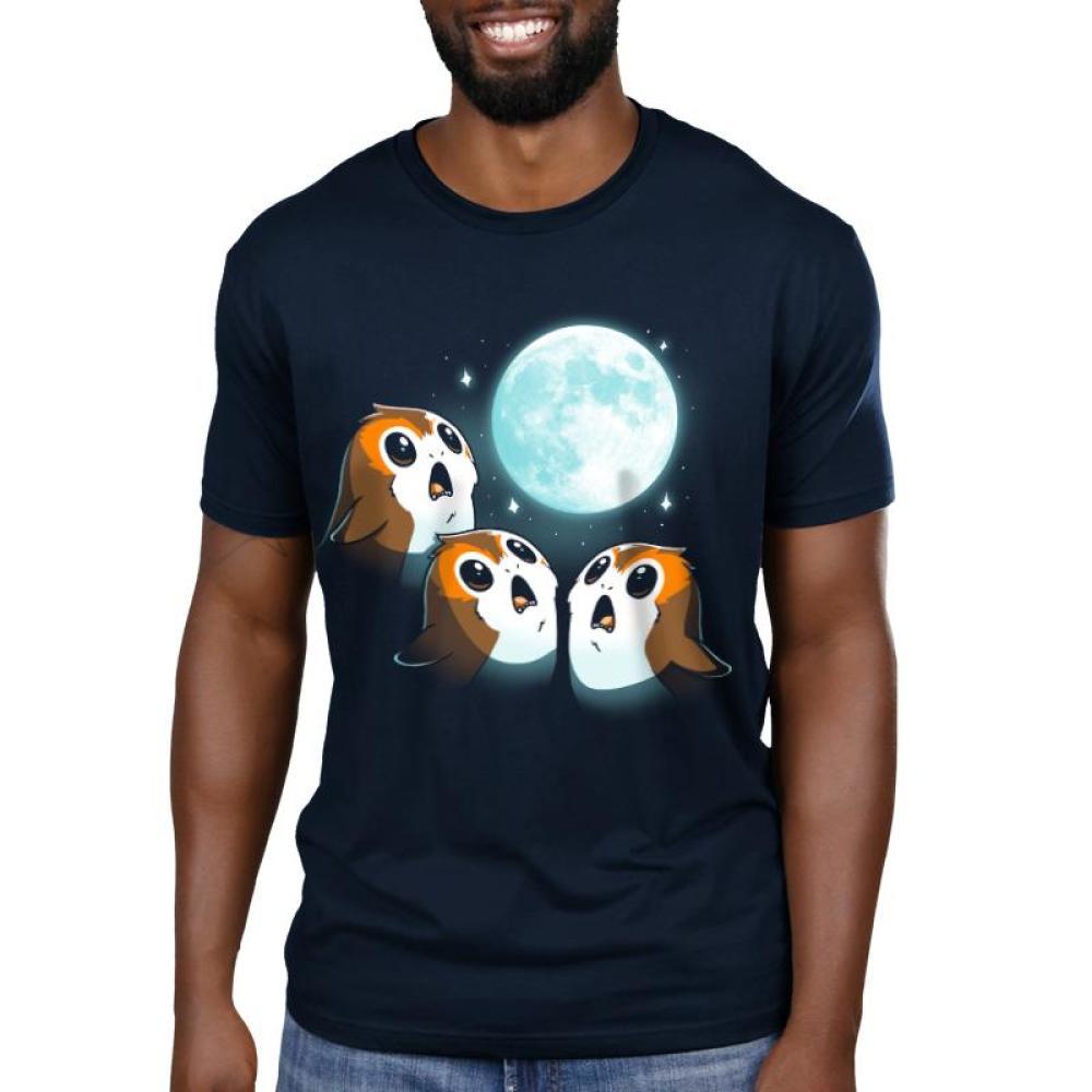3 Porg Moon Men's T-Shirt Model Star Wars TeeTurtle
