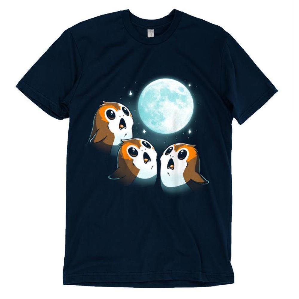 3 Porg Moon T-Shirt Star Wars TeeTurtle