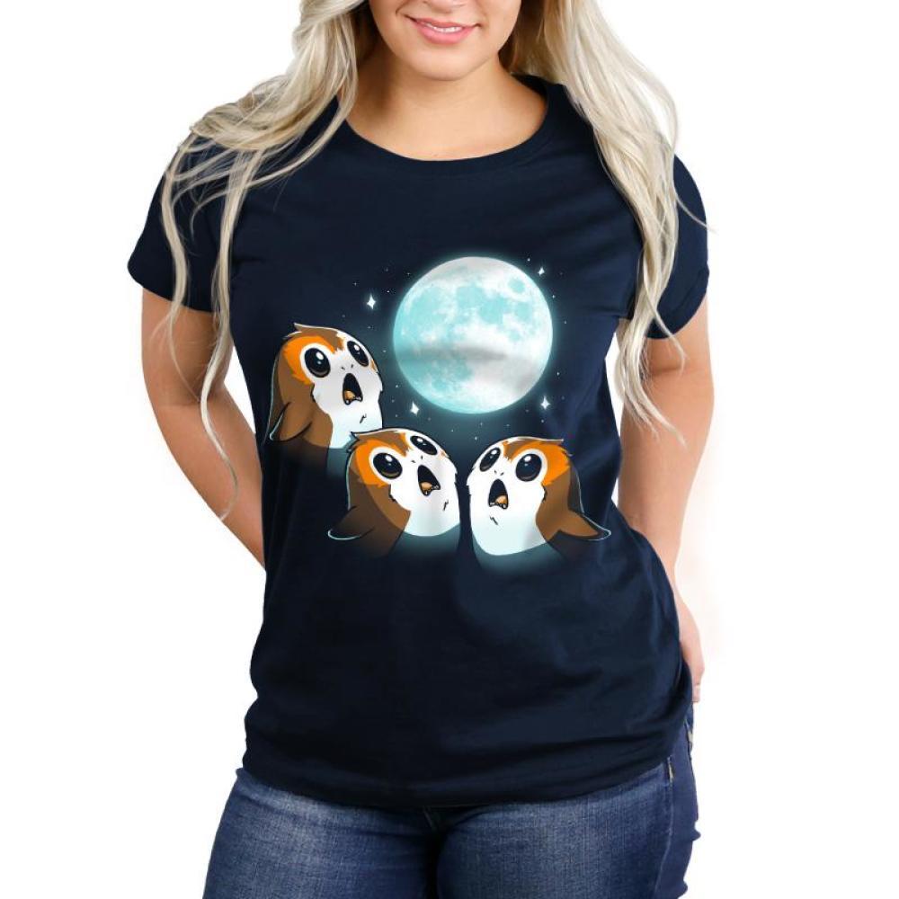 3 Porg Moon Women's T-Shirt Model Star Wars TeeTurtle