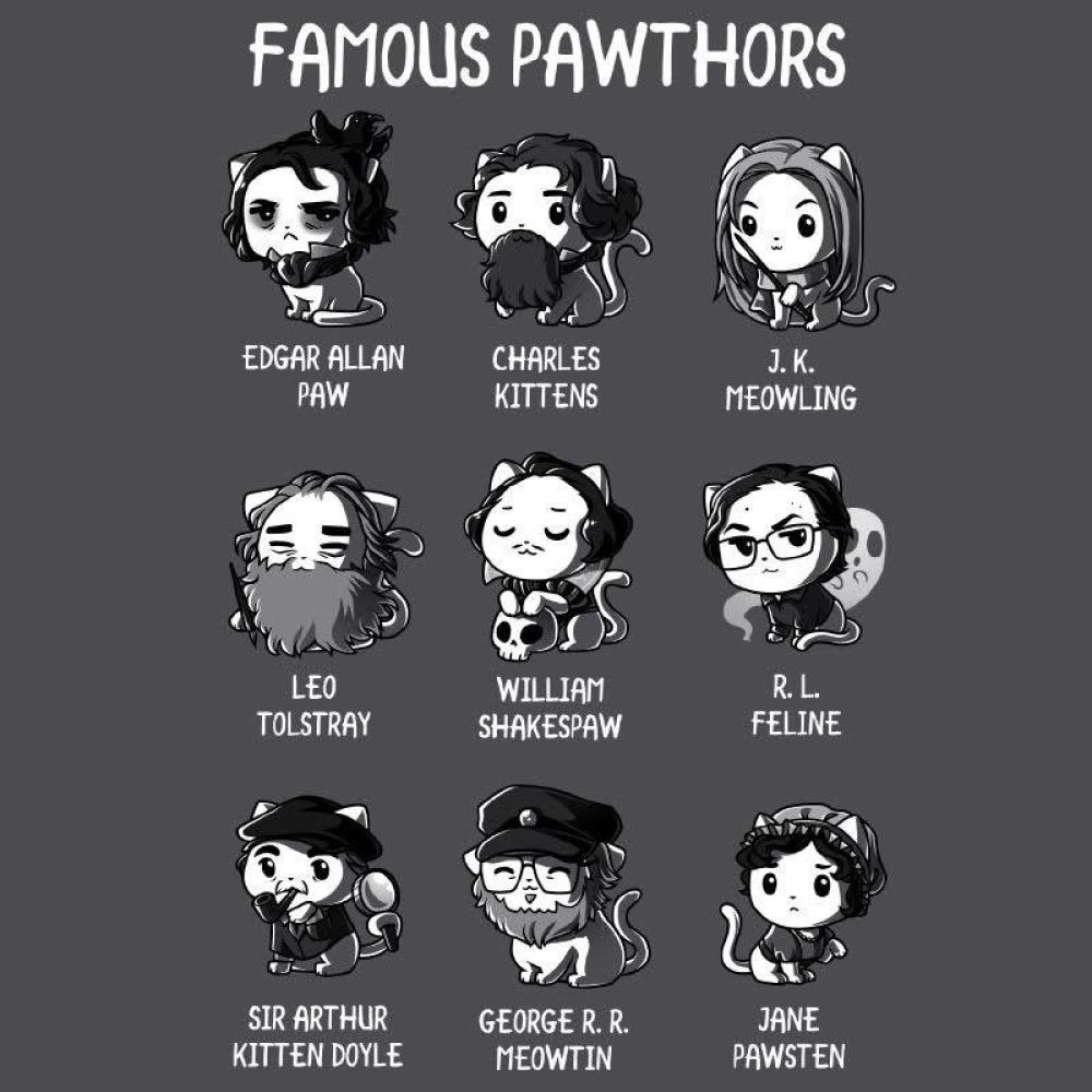 Famous Pawthors t-shirt TeeTurtle