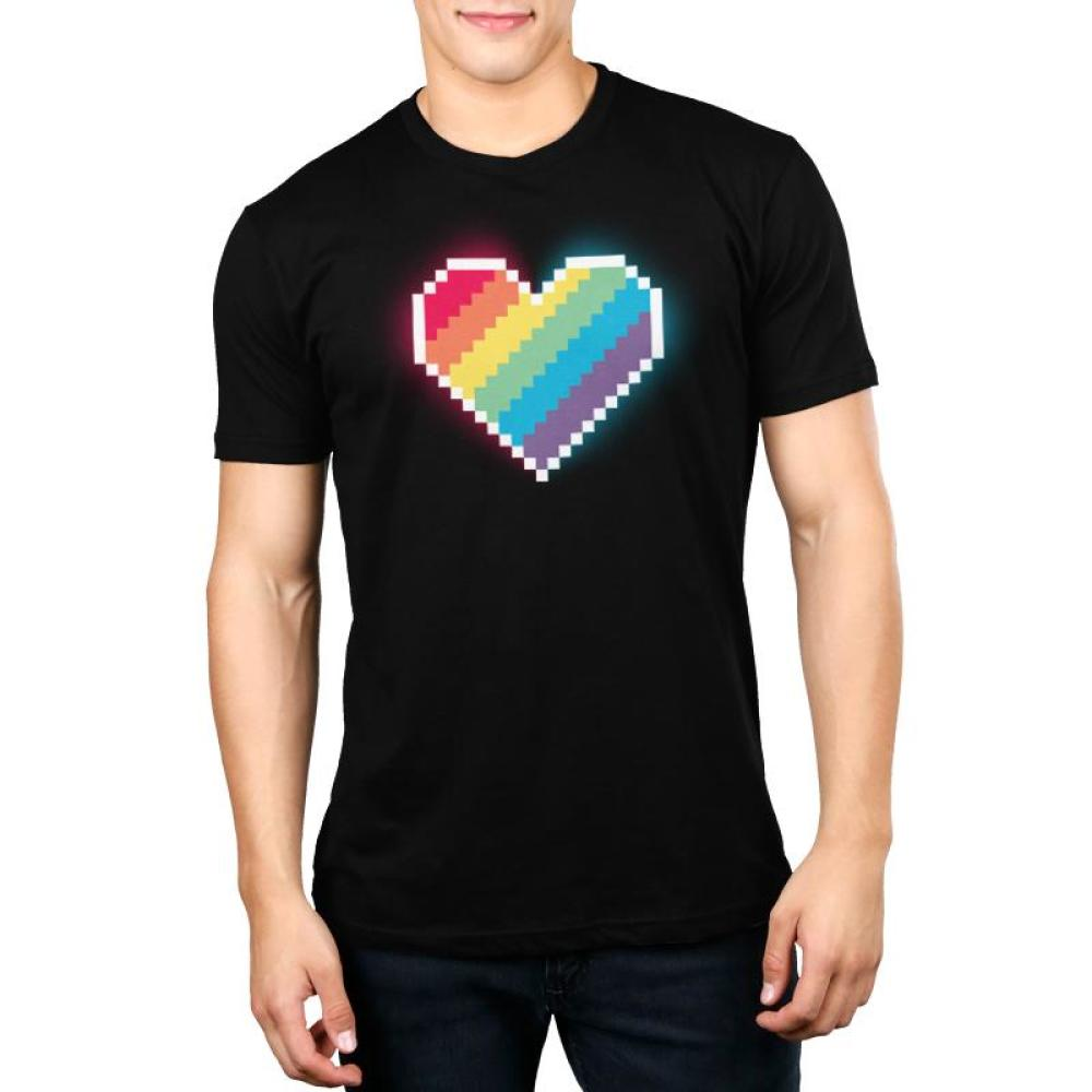 8-Bit Heart Men's T-Shirt Model TeeTurtle
