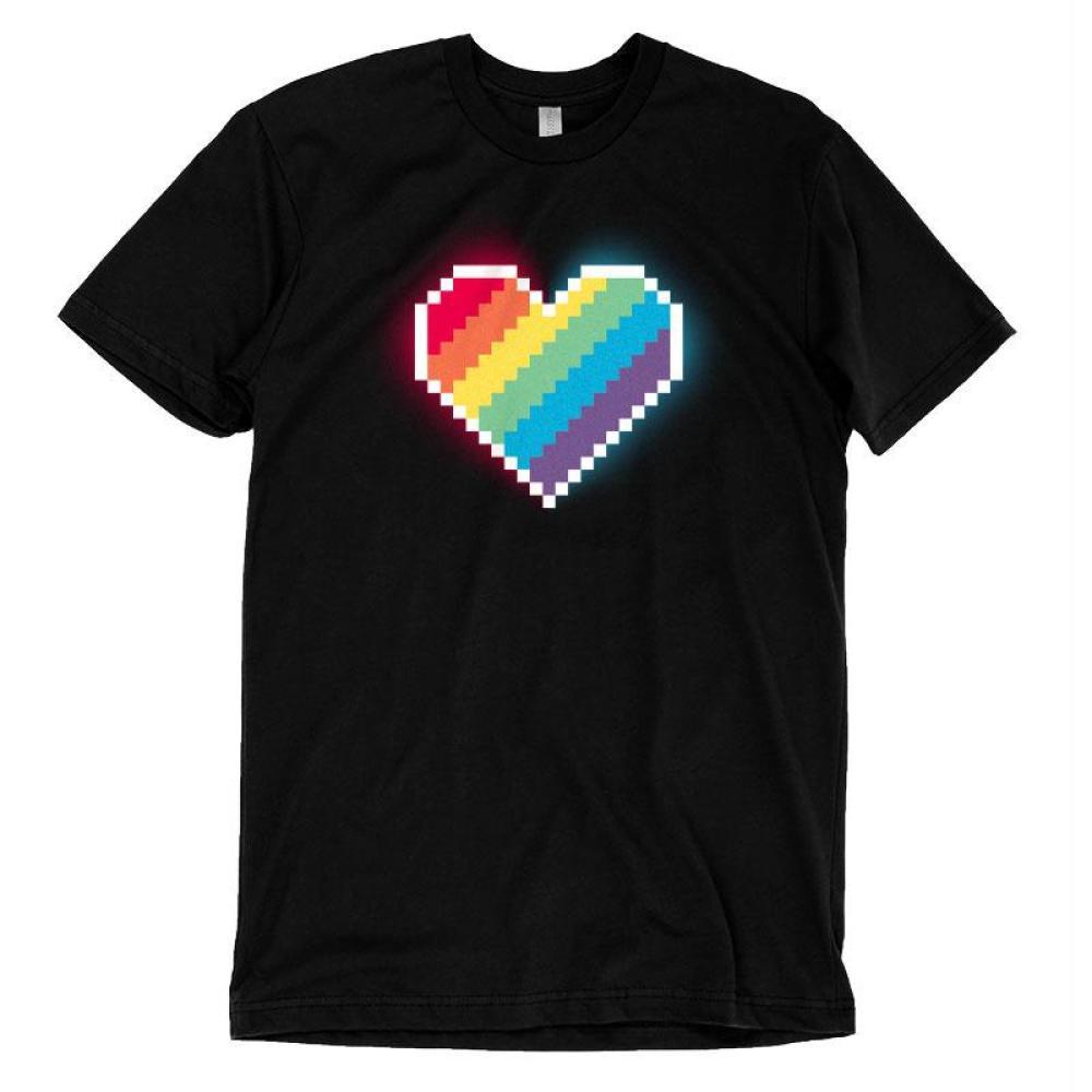 8-Bit Heart T-Shirt TeeTurtle