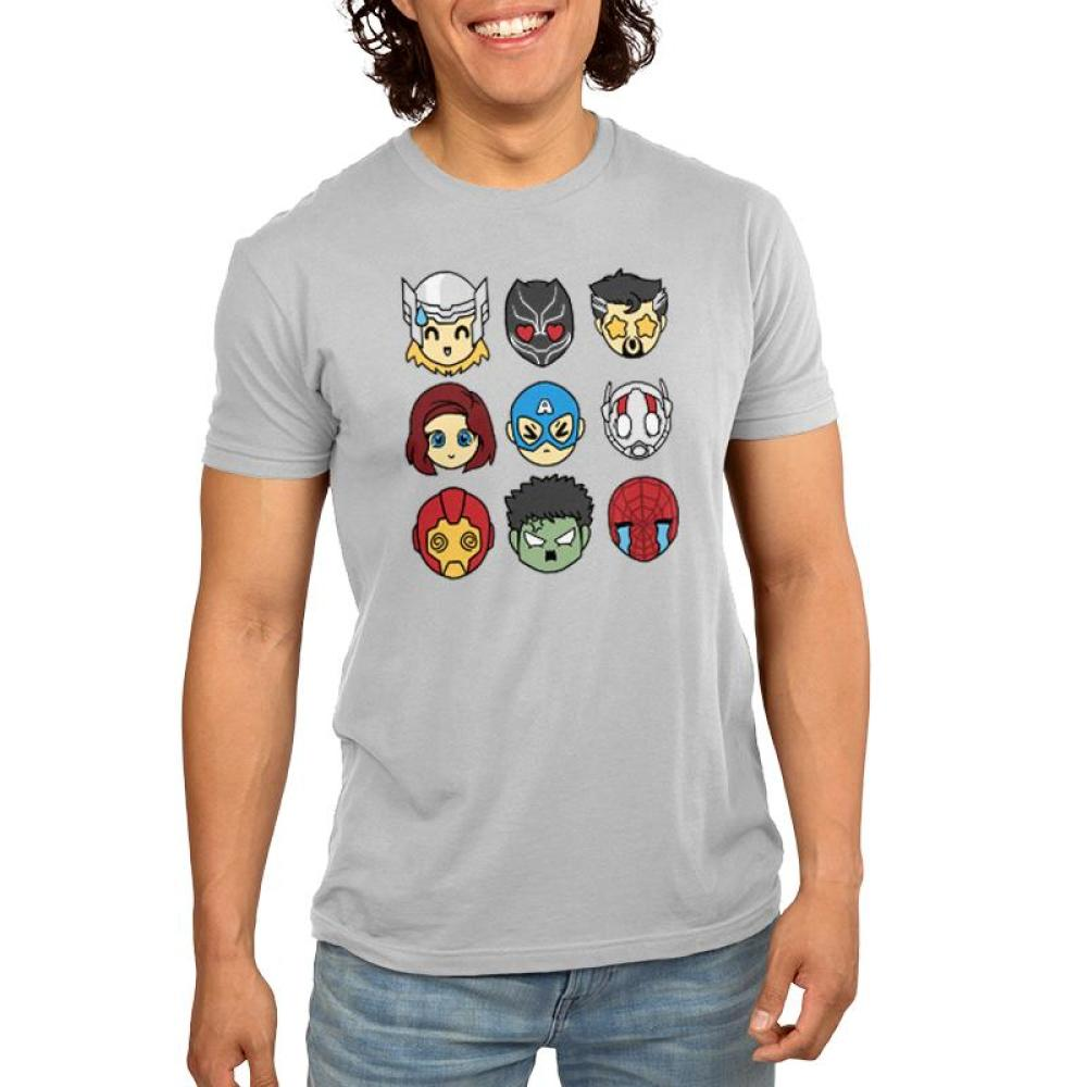 Avengers Emojis Men's T-Shirt Model Marvel TeeTurtle