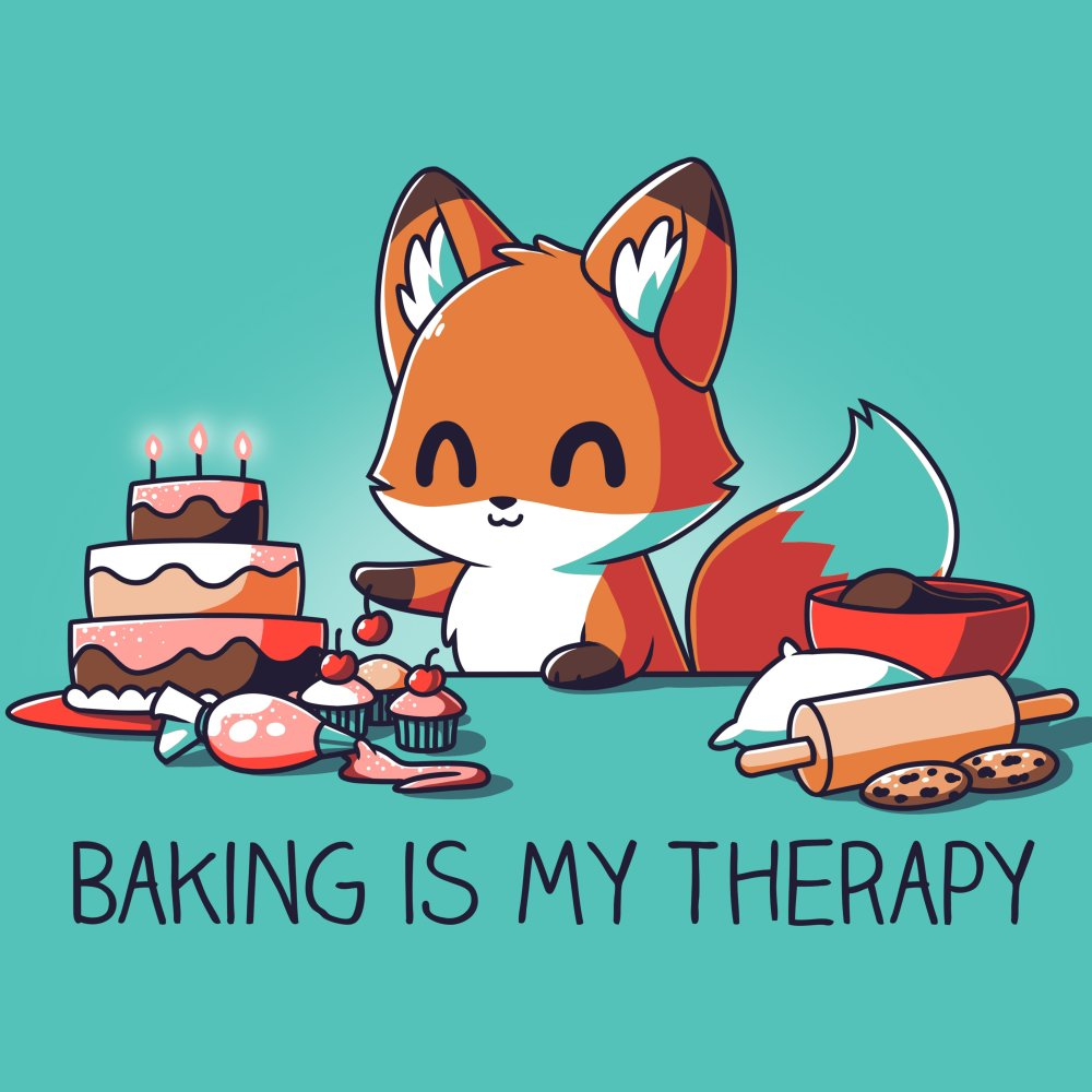 Baking Is My Therapy T-Shirt TeeTurtle