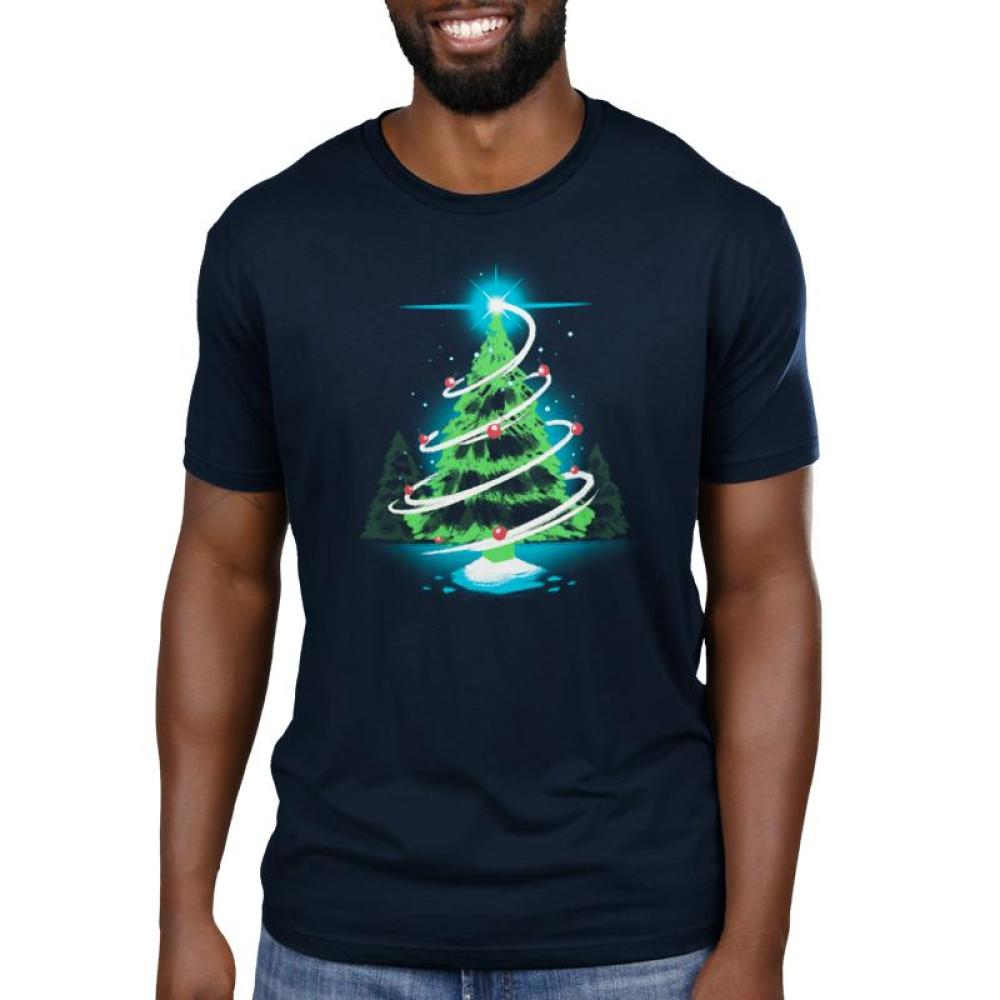 Christmas Tree Men's T-Shirt Model TeeTurtle