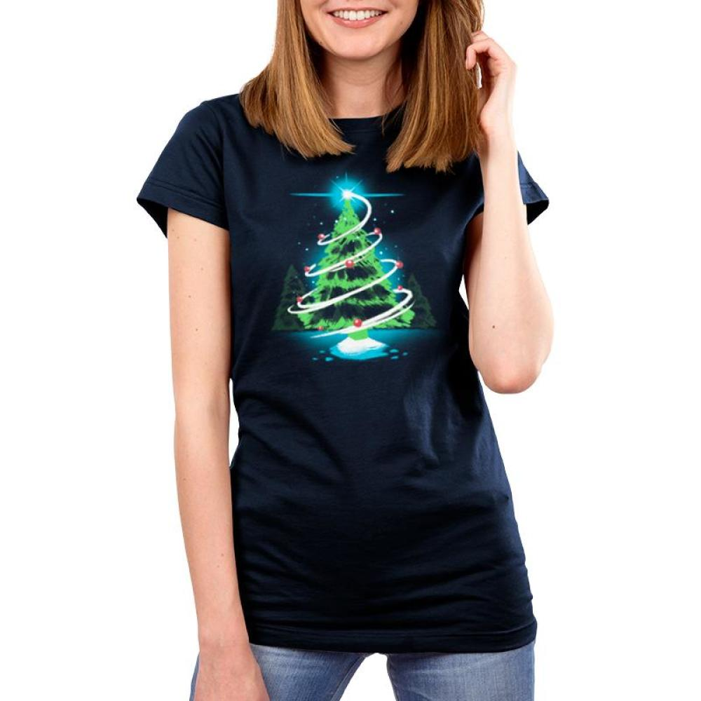 Christmas Tree Women's T-Shirt Model TeeTurtle