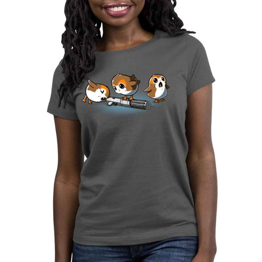Curious Porgs Women's Relaxed Fit T-Shirt Model Star Wars TeeTurtle