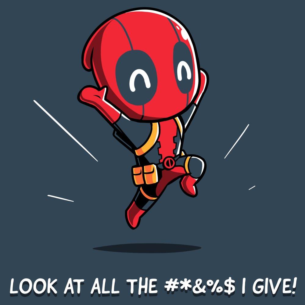 Deadpool Gives Zero #*&%$ T-Shirt Marvel TeeTurtle