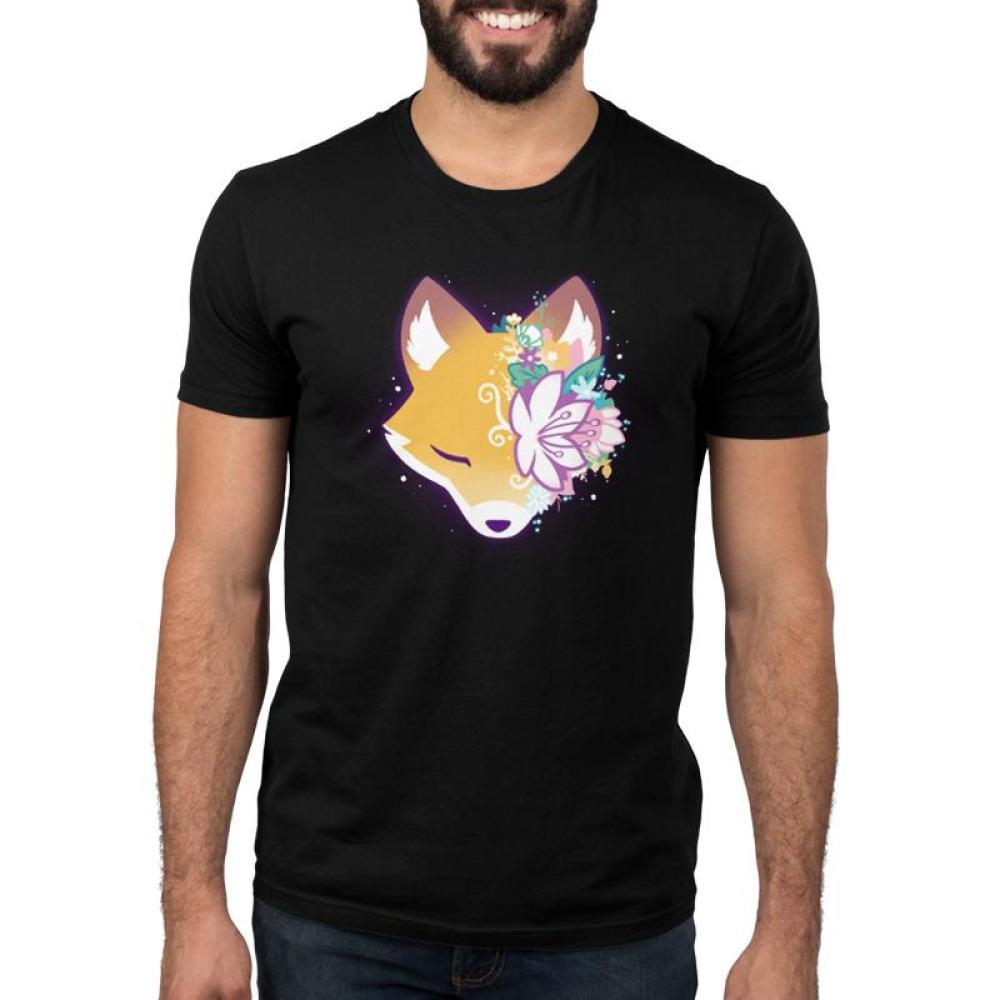 Floral Fox Men's T-Shirt Model TeeTurtle