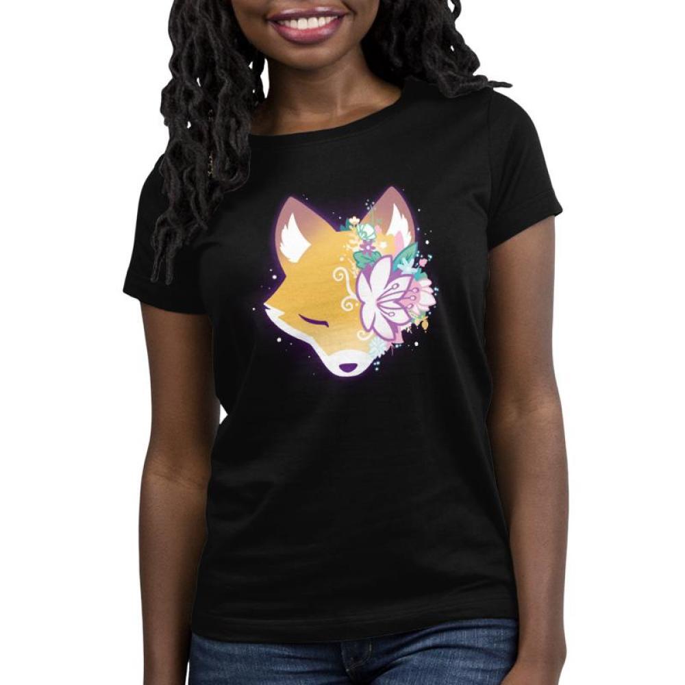 Floral Fox Women's T-Shirt Model TeeTurtle