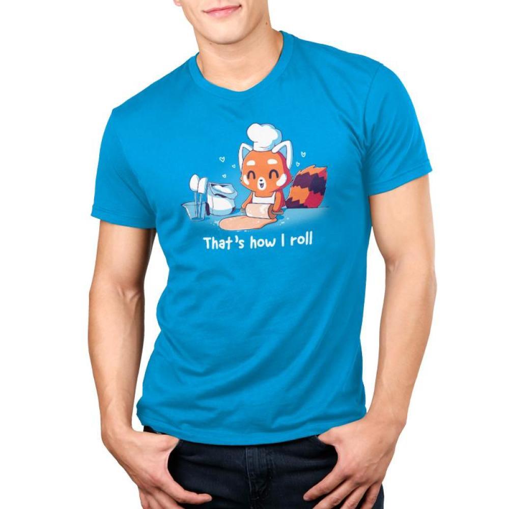 That's How I Roll Men's T-Shirt Model TeeTurtle