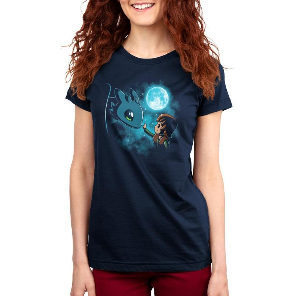 be0ceac271c0 How to Train Your Dragon Women's T-shirt Model Dreamworks TeeTurtle blue t- shirt