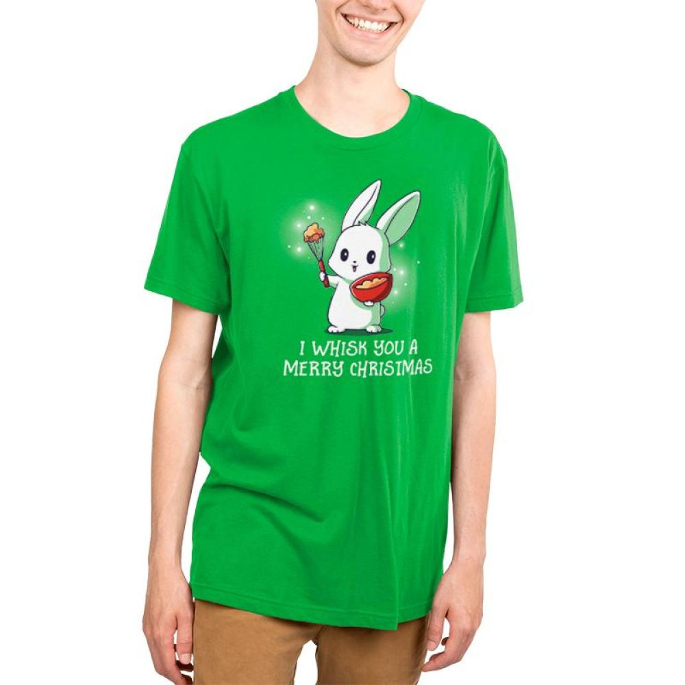 I Whisk You A Merry Christmas Men's T-Shirt Model TeeTurtle