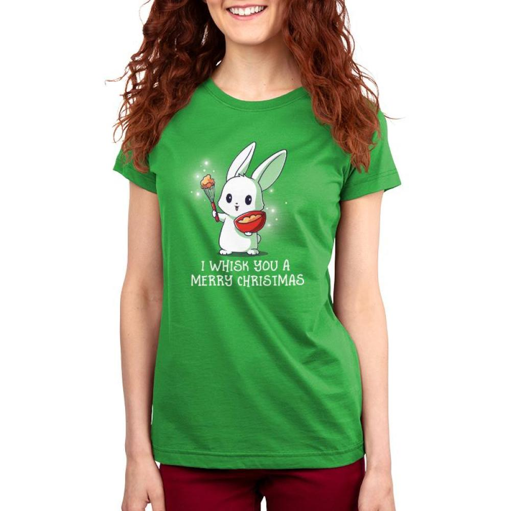 I Whisk You A Merry Christmas Women's T-Shirt Model TeeTurtle