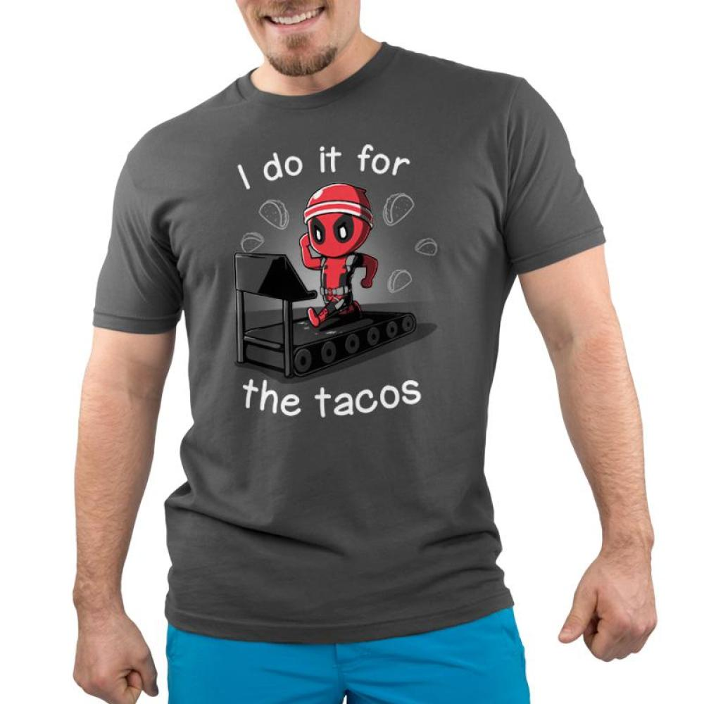 I Do It For The Tacos Men's T-Shirt Model  Marvel-Deadpool/X-Men TeeTurtle