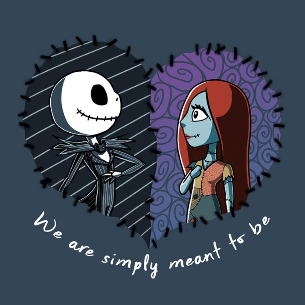 Jack Skellington And Sally Simply Meant To Be T Shirt Official