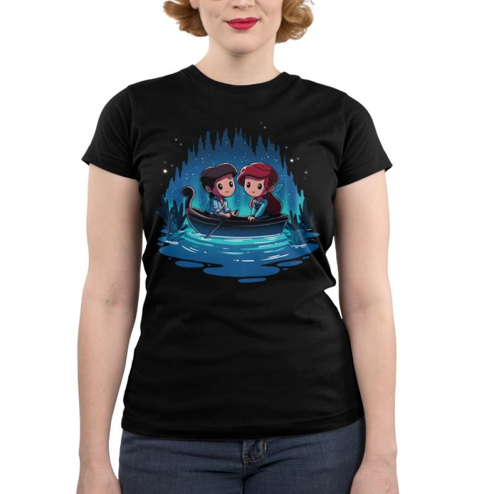 Kiss the Girl Women's Ultra Slim T-Shirt Model The Little Mermaid Disney TeeTurtle