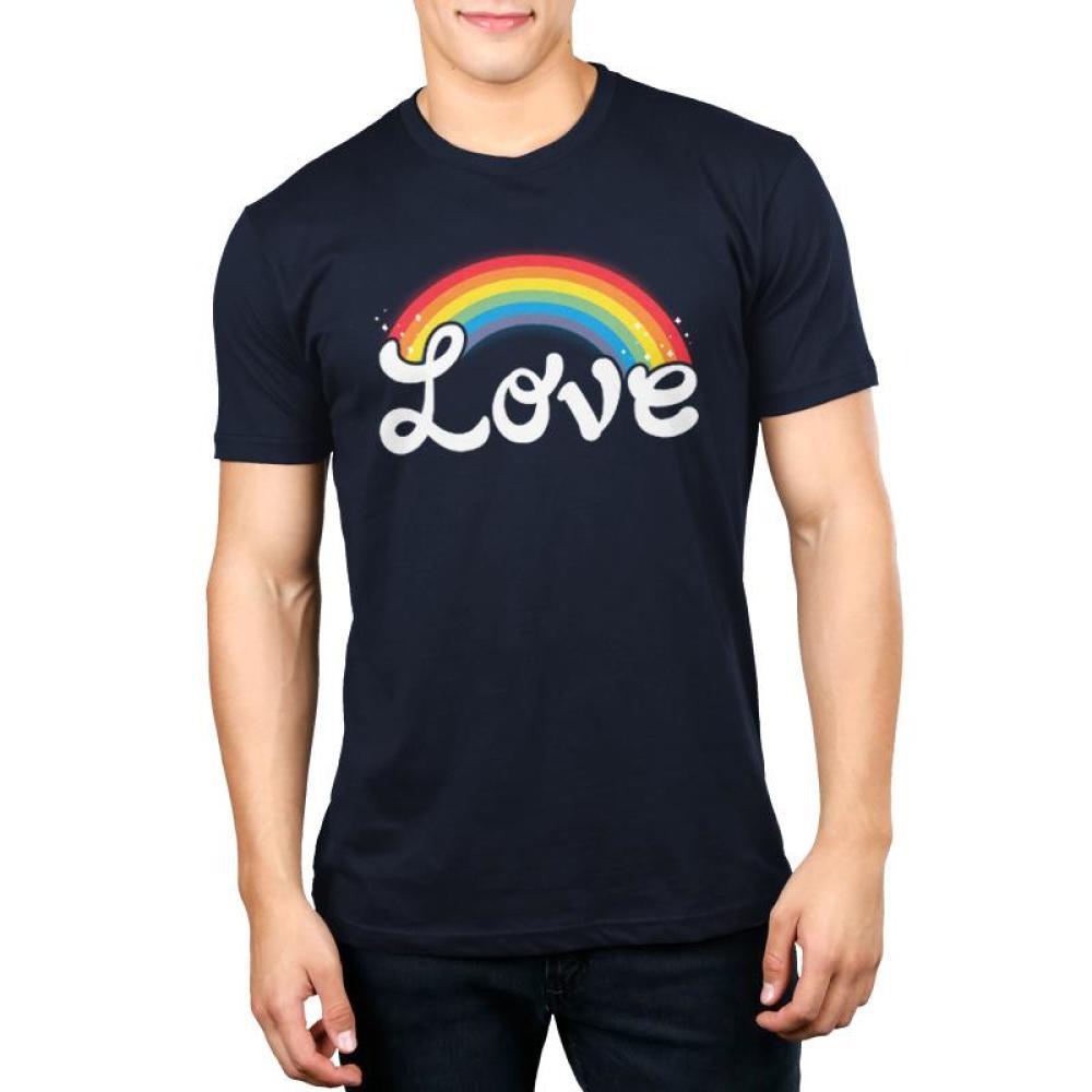 Love Men's T-Shirt Model TeeTurtle black t-shirt featuring shirt text