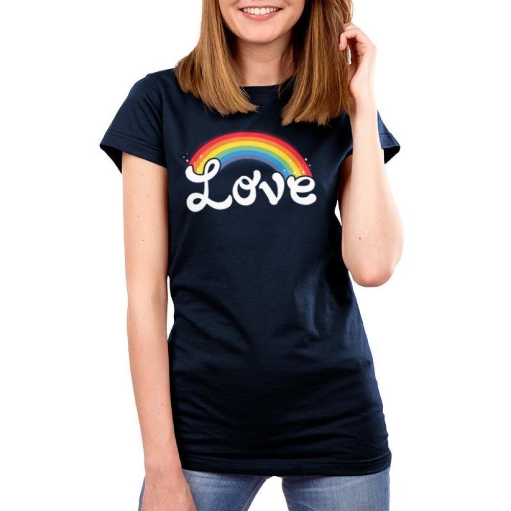 Love Women's T-Shirt Model TeeTurtle black t-shirt featuring shirt text