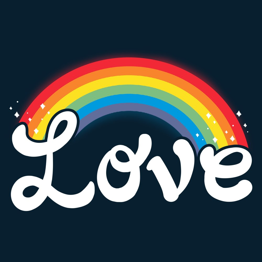 Love T-Shirt TeeTurtle black t-shirt featuring shirt text