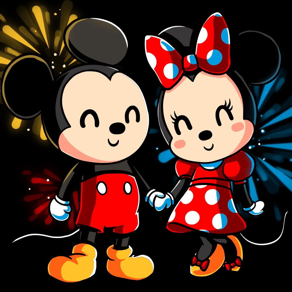 58f577b87 Mickey and Minnie Forever T-Shirt Disney TeeTurtle black t-shirt featuring  Micke and