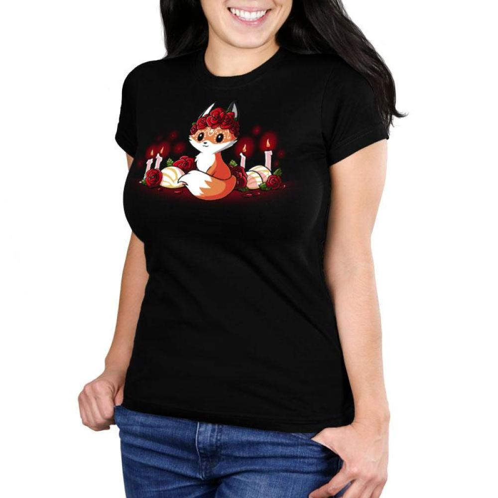 Dia de los Foxes Women's Ultra Slim T-Shirt Model TeeTurtle