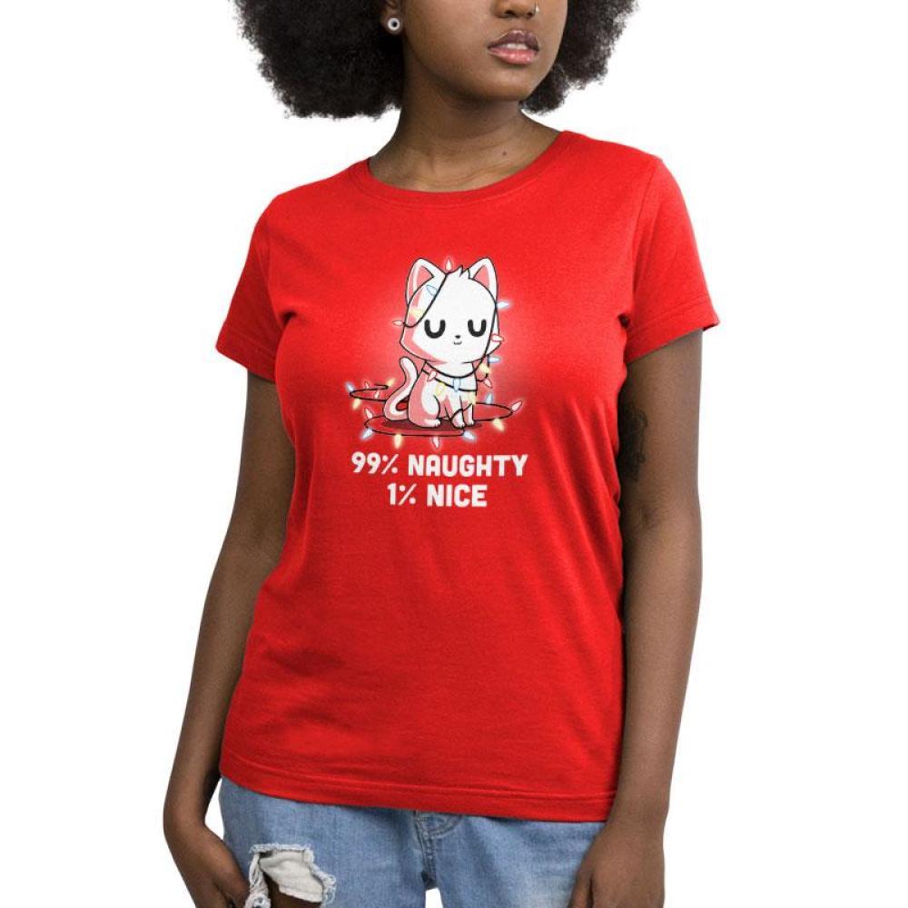 Naughty List Women's T-Shirt Model TeeTurtle