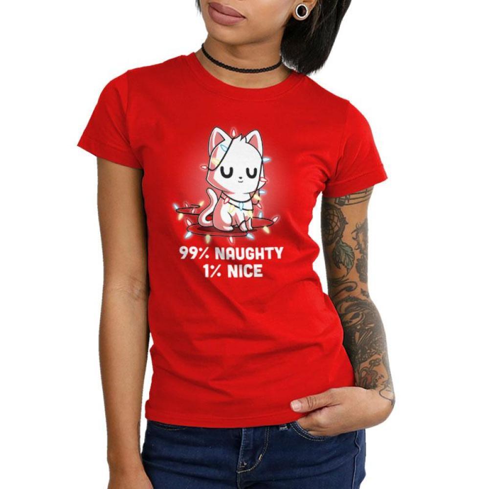 Naughty List Juniors T-Shirt Model TeeTurtle