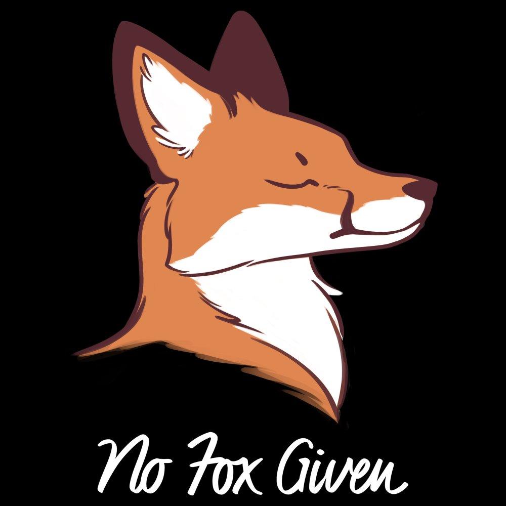 No Fox Given T-shirt TeeTurtle black t-shirt featuring a fox with shirt text
