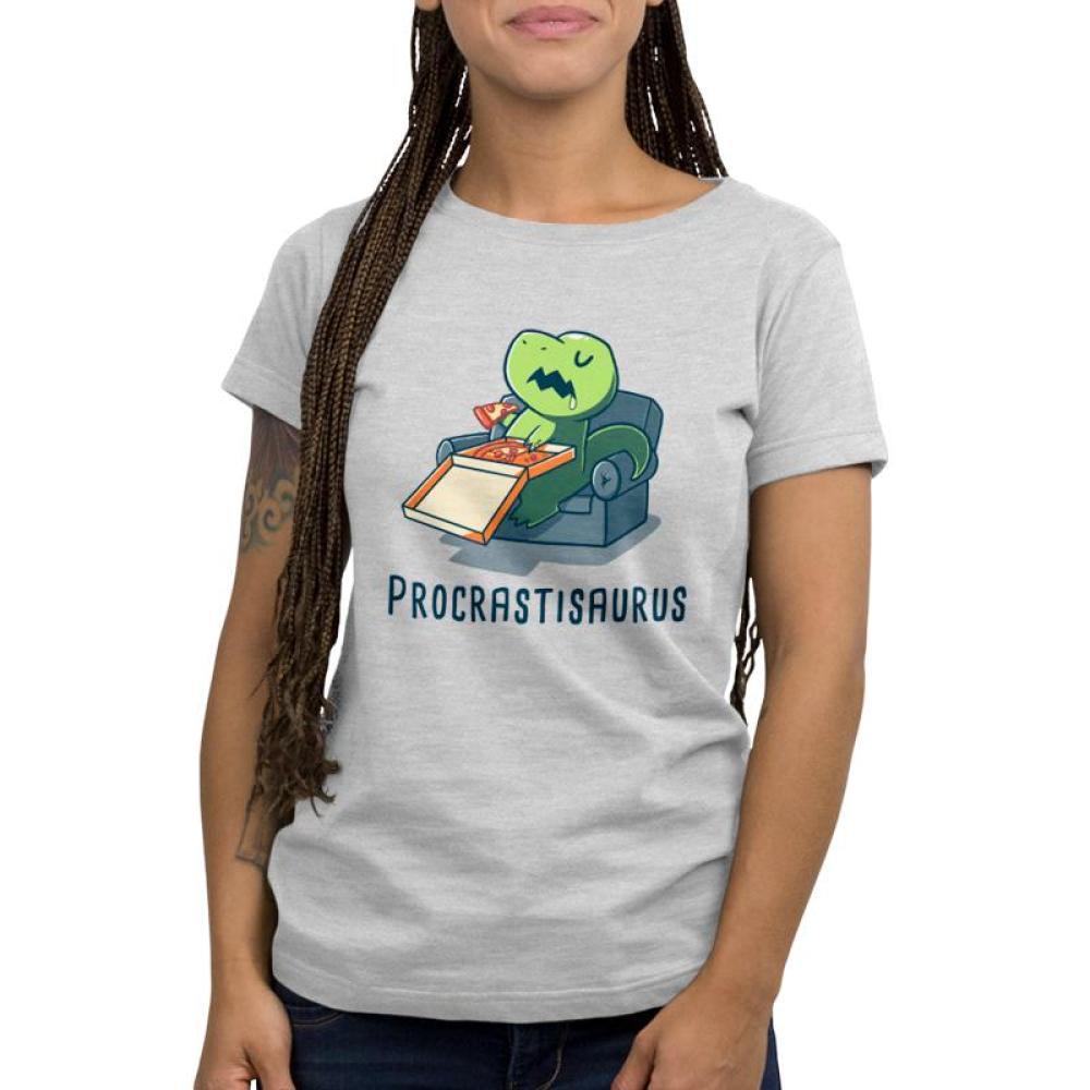 Procrastisaurus Women's T-Shirt Model TeeTurtle