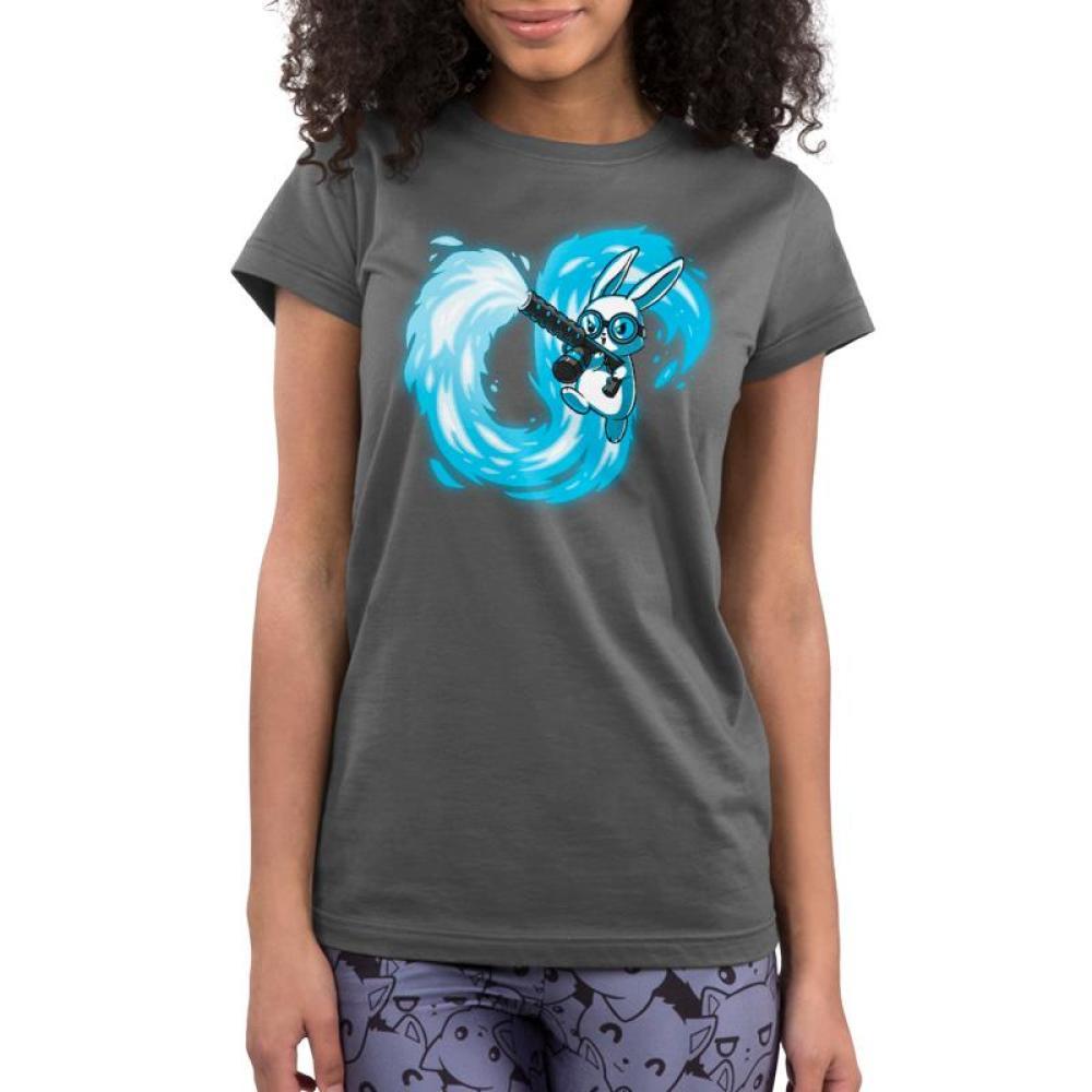 Pyromaniac Bunny Women's Ultra Slim T-Shirt Model TeeTurtle