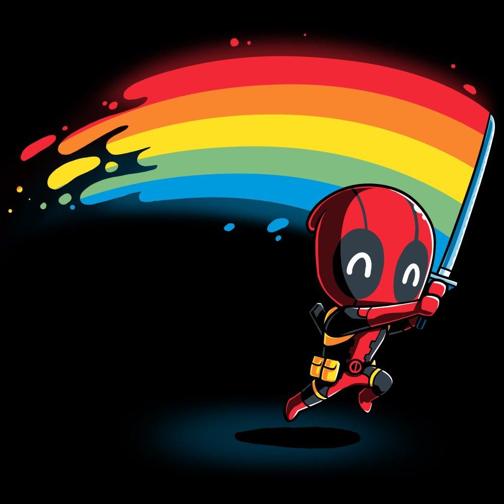 Rainbow Katana T-Shirt Marvel - Deadpool/X-Men TeeTurtle