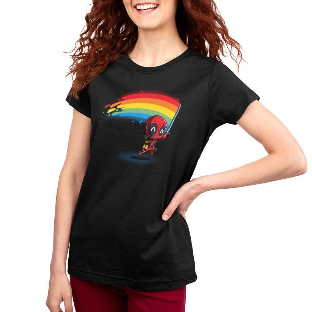 Rainbow Katana Women's T-Shirt Model Marvel - Deadpool/X-Men TeeTurtle