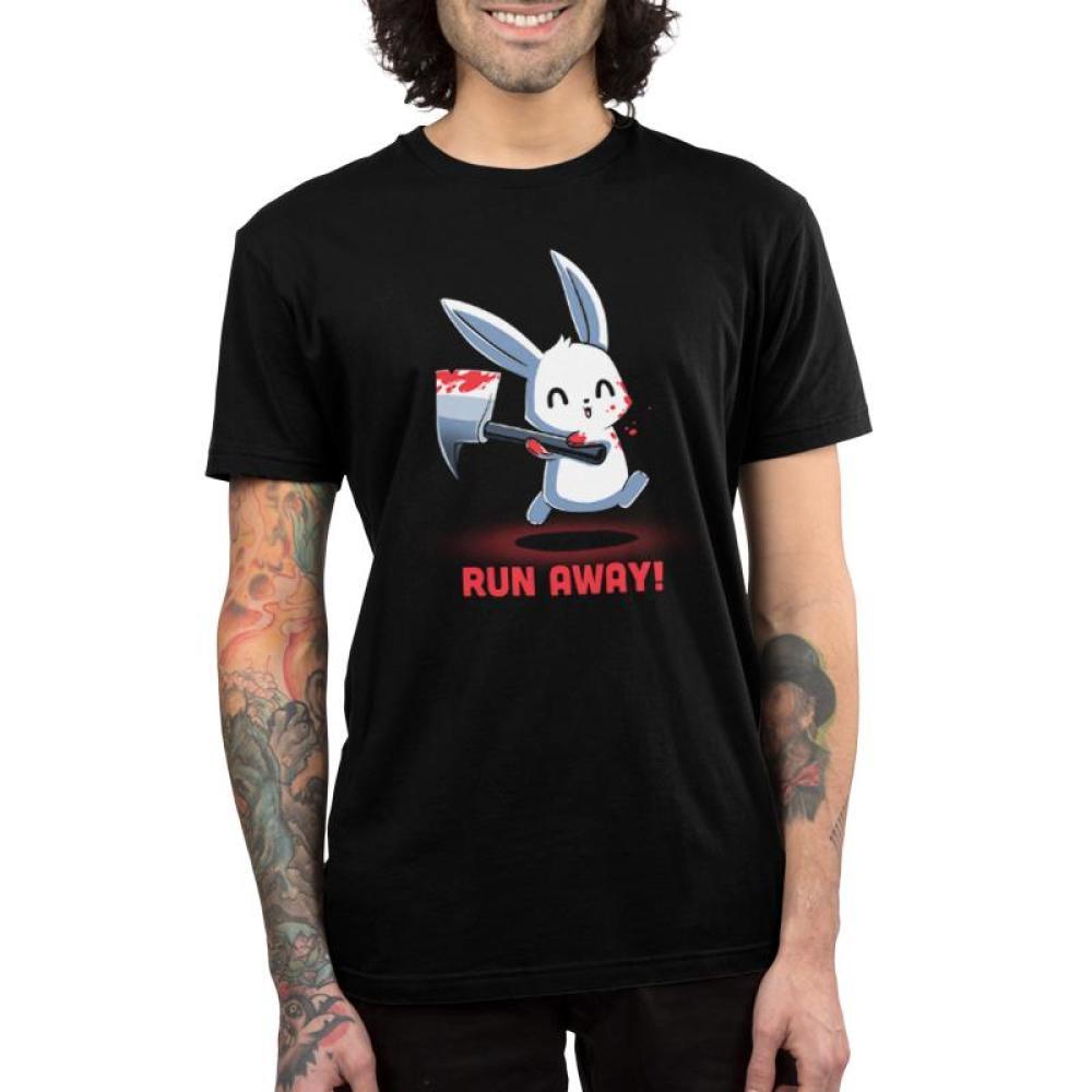 Run Away! Men's T-Shirt Model TeeTurtle