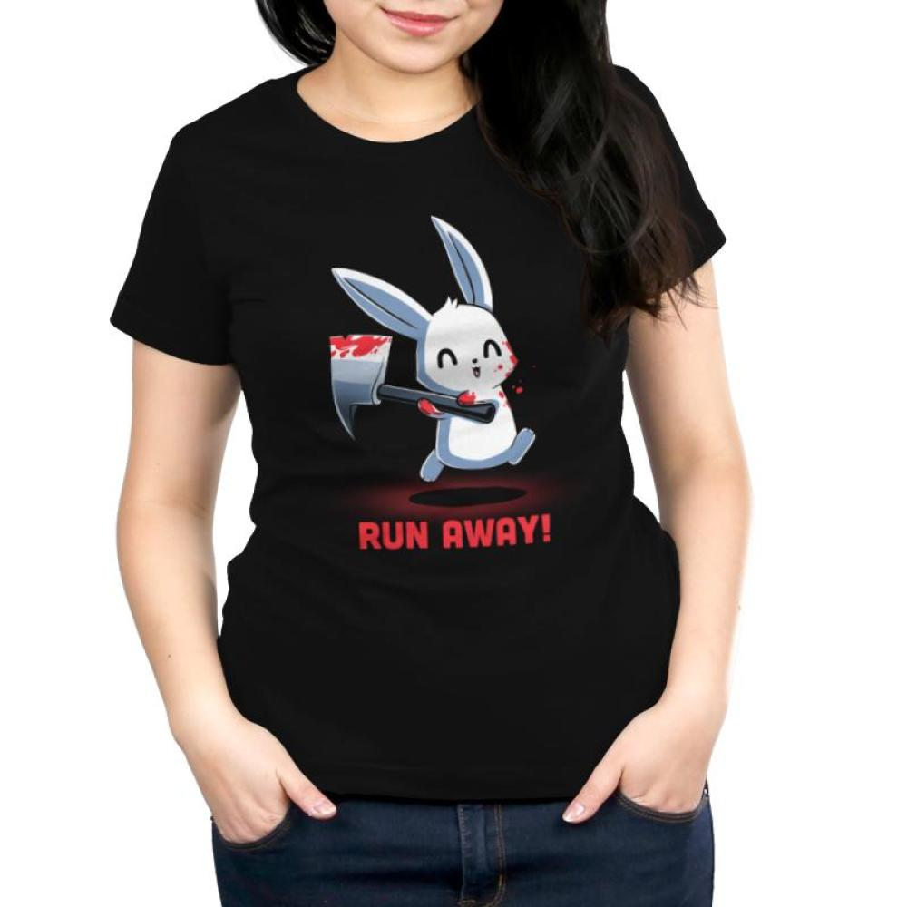 Run Away! Women's T-Shirt Model TeeTurtle