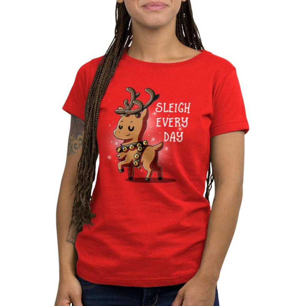 Sleigh Every Day Women's Relaxed Fit T-Shirt Model TeeTurtle