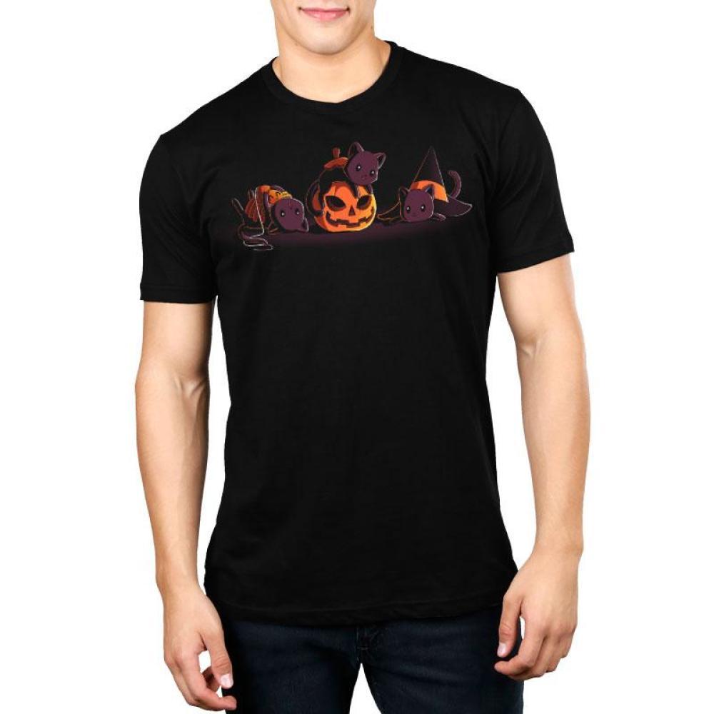 Spooky Kitties Standard T-Shirt Model TeeTurtle
