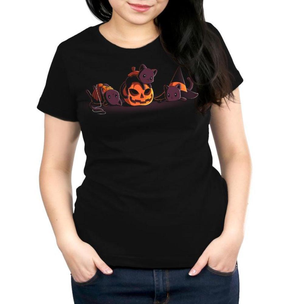 Spooky Kitties Women's Relaxed Fit T-Shirt Model TeeTurtle