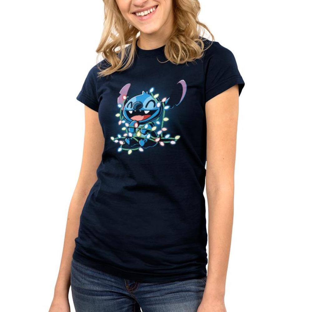 Tangled Up Stitch Juniors T-Shirt Model Disney TeeTurtle