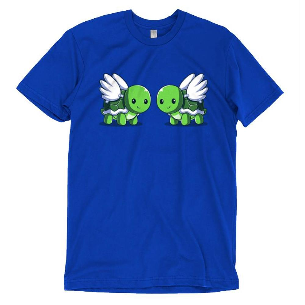 Turtle Doves T-Shirt TeeTurtle Blue t-shirt featuring two turtles with wings, or turtle doves